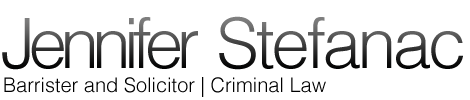 Jennifer Stefanac, Criminal Lawyer, Legal Aid, Barrister & Solicitor
